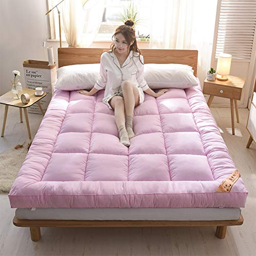 i Matratze, Verdicken Weiches Tatami-Boden Isomatte Japanischer Bett Roll Single Double Student Schlafsaal Matratze-pink Queen2 ()
