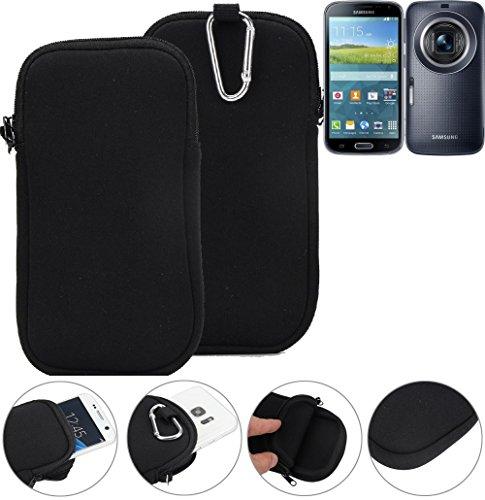 K-S-Trade Neopren Hülle für Samsung Galaxy K Zoom LTE Schutzhülle Neoprenhülle Sleeve Handyhülle Schutz Hülle Handy Gürtel Tasche Case Handytasche schwarz