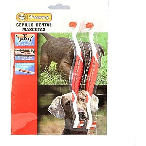 YOMMY® 2X Cepillo Dental de dientes con 2X Cepillo Dedos para Mascota Perros Gatos Liempieza dientes YM-0239 &
