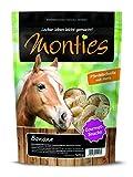 Monties Pferdeleckerlis, Banane-Snacks, Extrudiert, Größe ca. 4,5 cm Durchmesser, Gourmet-Snacks, 500 g