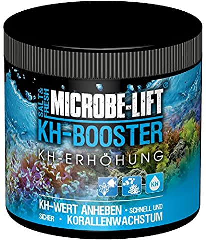 MICROBE-LIFT KH-Booster - (Effektive KH-Erhöhung für jedes Meerwasser und Süßwasser Aquarium, gezielte Anhebung der Karbonathärte, unterstützt nachhaltig die Nitrifikation, sorgt für ein gesundes Korallenwachstum, einfach und sicher anzuwenden, sehr hohe Reichweite) 500 g