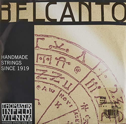 Thomastik Einzelsaite für Kontrabass 3/4 Belcanto - H/B-Saite Stahlseilkern, Chrom umsponnen, Orchesterstimmung, mittel