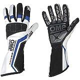 Omp One evo-k Kart Gants (couleur: blanc/noir/bleu, Taille: M)