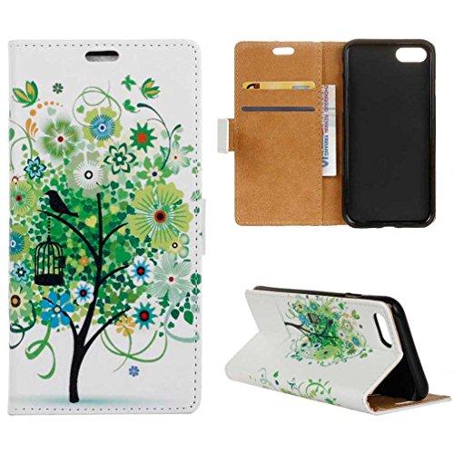 Coloré Motif PU Cuir portefeuille Housse Etui pour iPhone 7 Plus (5,5 pouces) Case Coque Protection Flip Cover avec carte de crédit Slots (KW12#) KW11#