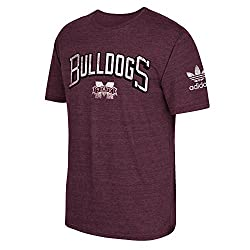 NCAA Mississippi State Bulldogs Men's Deadstock Arch Tri-Blend Short Sleeve Tee, Medium, Classic Maroon Heathered