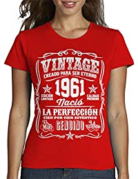 latostadora - Camiseta Vintage 1961 la para Mujer