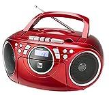 Kassettenradio mit CD  UKW-Radio  Boombox  CD-Player  Stereo Lautsprecher  AUX-Eingang  Netz- / Batteriebetrieb  Tragbar  Rot  Dual P 70