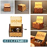#4: Embernation Hedwig Theme Harry Potter Hand Engraved Wooden Music Box - Brown