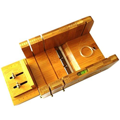 Vancgoods multi-fonction pratique savon réglable en bambou outil de fabrication de savon avec savon biseau planer set