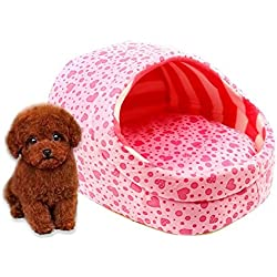 Cosante Pantuflas Hermosas Soft Cachemira Cachorro De Perro Caliente, Cama Gato Rosa 1 Pcs