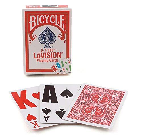 US Playing Card Company 0125 - Bicycle Spielkarten (54 Karten) - E-Z See/ Lovision (Riesen-Index)