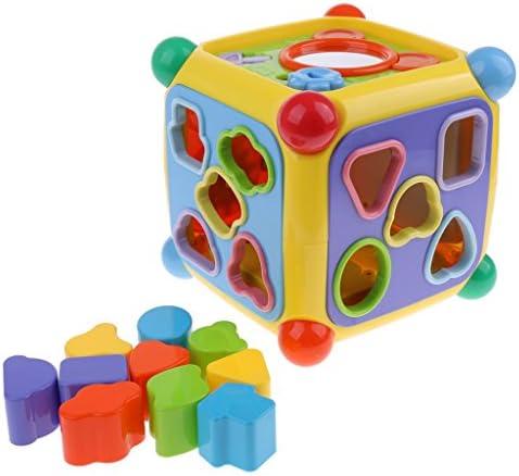 MagiDeal MagiDeal MagiDeal Jouet Musical de Boîte de Cube de 6 Côtés en Plastique Jouet de DéveloppeHommes t pour les  s Bébé | Une Bonne Réputation Dans Le Monde Entier  f1e8d4