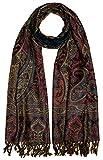 Lorenzo Cana Luxus Herren Schal Schaltuch aus weicher Wolle Paisley Muster bunt mehrfarbig 70 cm x 190 cm Wollschal Wolltuch Umschlagtuch 7819711