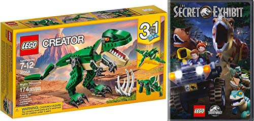 Exhibit Lego Dino Adventures Jurassic World Secret DVD Animated Movie Bonus Short Films Dinosaurs! & Mighty Lego Creator 3 in 1 Build pack