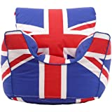 Cotton Union Jack GB Bean Bag Arm Chair with Beans Child size