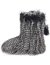 b6c8cb02b135c Amazon.es  pompones - Botas   Zapatos para mujer  Zapatos y complementos