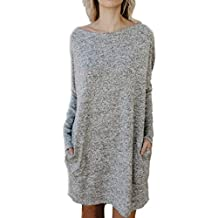 Robe pull col roule ample