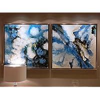 Insieme - Cuadros Decorativos - Abstracto Denim J/2 (105x105)