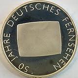 Münzen für Sammler BRD Schönnr: 105 (218) 50 Jahre Deutsches Fernsehen, Stempelglanz 2002 10 Euro Silber