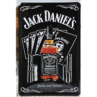 Vintage Style Jack Daniel's Retro-Decorazione da parete a placca metallica 30 x 20 cm