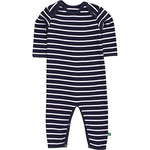 Fred'S World By Green Cotton Stripe Bodysuit, Body Mixte bébé, Bleu (Navy/Cream 019800002), 24 Mois