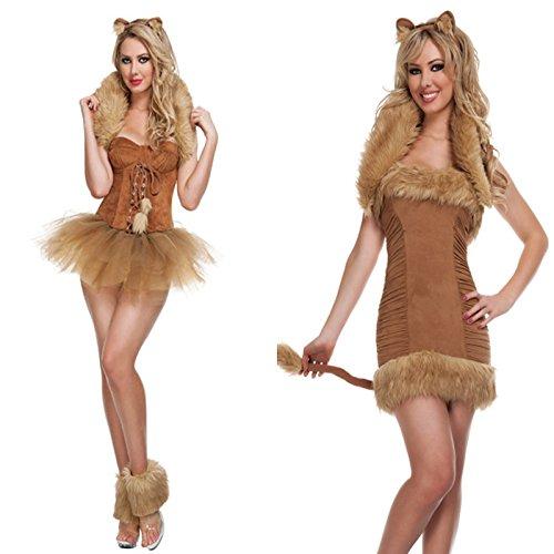 Gorgeous Halloween-Kostüm Teufel Drag Queen Kleid ausgestattet Plüsch bar Rollenspiel TierkleidKatzenmädchen - Pirate Queen Sexy Kostüm