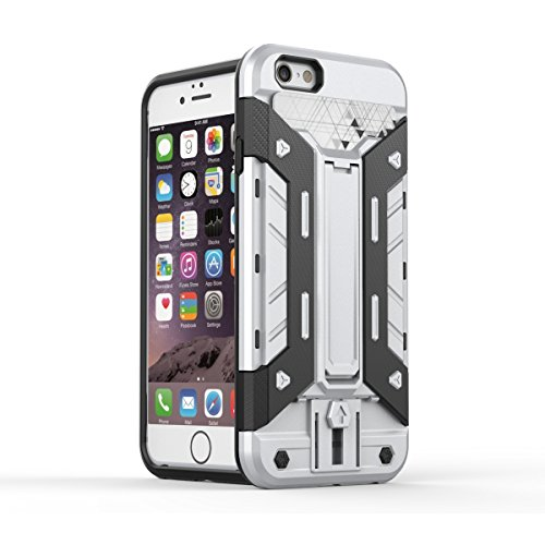 Wkae iphone6 6s 4,7 cas, 2 en 1 nouvelle armure dure style hybride double couche avec armure défenseur pc cas cas] [antichocs iphone6 6s 4,7 Wkae Case Cover ( Color : 9 , Size : Iphone 4.7 ) 9