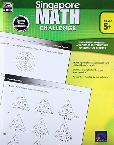 Singapore Math Challenge, Grades 5 - 8 Cover Image