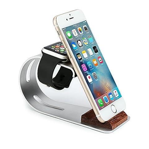 Support Téléphone Station Apple Watch Station d'Accueil Support pour Tablette ,Smartphone,iPhone 7 7 Plus 6 Plus et Station de Bureau pour Apple Watch 38 mm / 42 mm