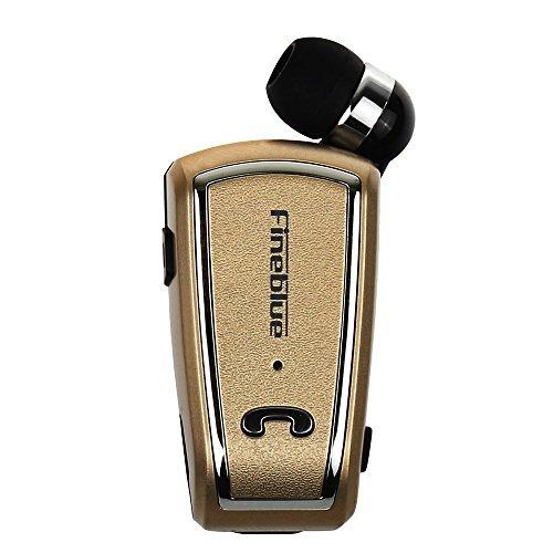 docooler Fineblue F-V3 Wireless Bluetooth Stereo Kopfhörer Bluetooth 4.0 InEar-Kopfhörer mit Mikrofon eingefahren Kopfhörer mit Freisprech-Clip White für iPhone Samsung HTC aktivieren Bluetooth-Geräte Bluetooth Stereo Headset Clip