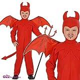 Widmann - Déguisement Diable Enfant Rouge (3/4 ans)