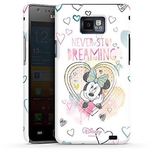 Handyhülle kompatibel mit Samsung Galaxy S2 Hülle Premium Case Disney Minnie Mouse Fanartikel Geschenke