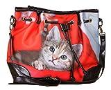 Handtasche mit Katzenmotiv - Hauskätzchen