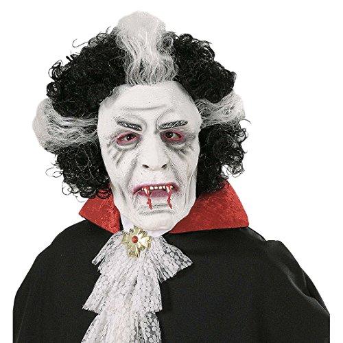 exmaske Vampir Maske mit Haaren Vampirmaske Herren Halloweenmaske Blutsauger Halloween Kostüm Accessoire Horrormaske Erwachsene ()
