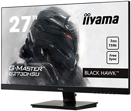 iiyama G-MASTER Black Hawk G2730HSU-B1 68,58 cm (27 Zoll) Gaming Monitor (VGA, HDMI, DisplayPort, USB 2.0, 1ms Reaktionszeit, FreeSync) schwarz - 3