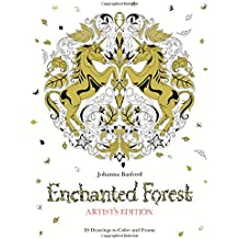 Enchanted Forest: Artist's Edition: 20 Drawings to Color and Frame