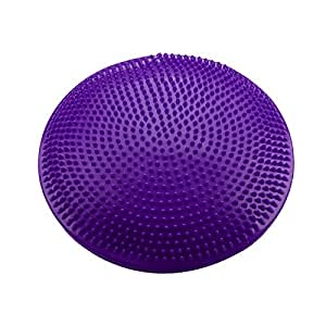 Purple : Balance Cushion - SODIAL(R)Yoga Stability Balance Board Disc Gym exercise Wobble Ankle knee Air Cushion Pad, Red