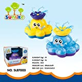 Sunlike® Funny Spray Water Octopus Baby Bath Toy - Floating Rotated Fountain Electric Bathtub Toy for Baby Kids (Random Color)