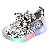 Snakell Unisex Kinder Schuhe mit Licht LED Leuchtende Blinkende Sneaker Babyschuhe Sommer Atmungsaktiv Mesh Sportschuhe Lauflernschuhe Krabbelschuhe mit Weiche Sohle
