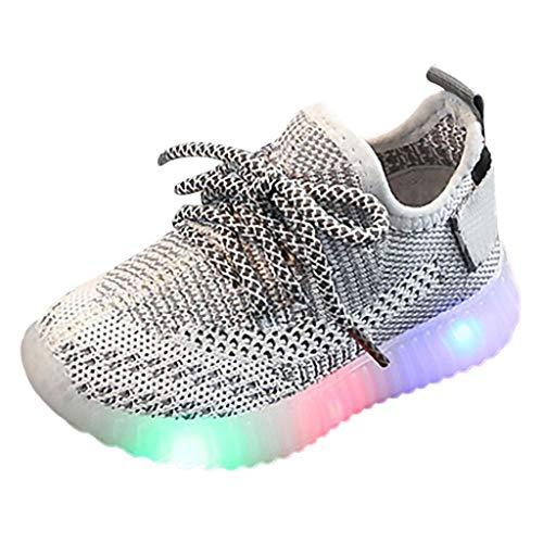 Snakell Unisex Kinder Schuhe mit Licht LED Leuchtende Blinkende Sneaker,Dorical Babyschuhe Sommer Atmungsaktiv Mesh Sportschuhe Lauflernschuhe Krabbelschuhe mit Weiche Sohle