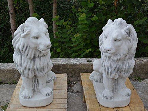 Offre spéciale : riesiges Lion Paire de porte Wächter Max en en pierre, au gel