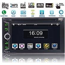EinCar Autoradio - Reproductor multimedia para coche con Bluetooth, pantalla táctil de 6,2 pulgadas, navegador GPS MP3, radio AM, RDS, DVD, CD, ...