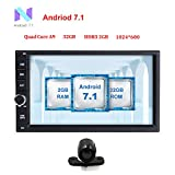 Freeauto 2GB 32GB Android 7.1 Nougat Car Autoradio Doppel-DIN-Bluetooth-Radio - Unterst¨¹tzung Fast Boot, GPS-Navigation, USB / SD, 3G 4G WIFI, Spiegel Link Backup-Kamera, DAB +, OBD2, DVR, SWC, USB SD