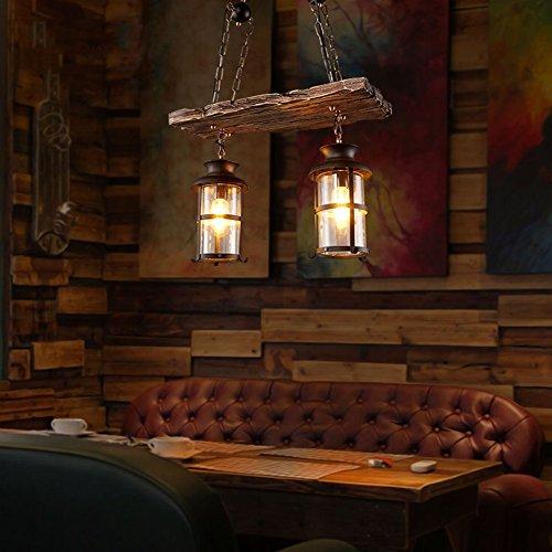 Vintage Holz Kronleuchter, Loft Deckenleuchten Antikes Glas Pendelleuchte für Küche Insel, Esszimmer, Bar, Loft Flur, Bekleidungsgeschäfte, Restaurants Innendekoration Beleuchtung ( Size : 2 Lighting ) (Insel-restaurants Küche)