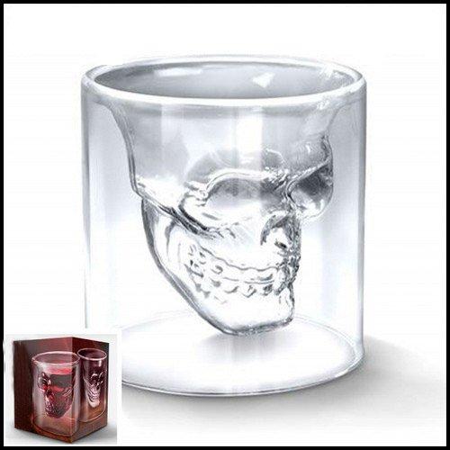 Cristal Tete Mort Head Shot verre pour la barre de 2,5 kg 7 x 7 cm