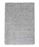 FLOWood Badematte Badezimmer Teppich Rutschfester Badvorleger Hochflor Microfaser Badteppich Waschbar (Grau,70x120 cm,1400g/m²)