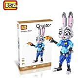 LOZ 9030 1200pcs ZOOTOPIA JUDY HOPPS Building Toy DIAMOND BLOCK CREATOR Series