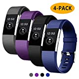 Vitty for Fitbit Charge 2 Strap for Women and Men, Charge 2 Bands Adjustable Replacement Silicone Sport Wristband for Fitbit Charge 2,Small(5.5