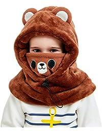 VIVO SUN Enfant Bonnet d Hiver Cagoule Bébé Écharpe Fille Garçon  Cache-Oreilles Calotte c573c945f3e