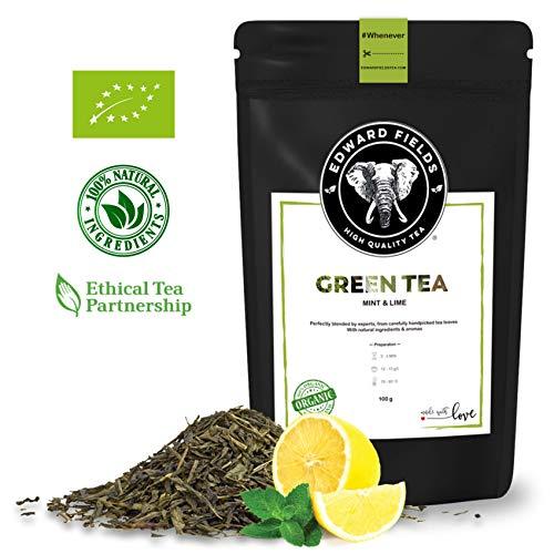 Edward Fields - Té Verde Orgánico de alta calidad con Menta y Limón